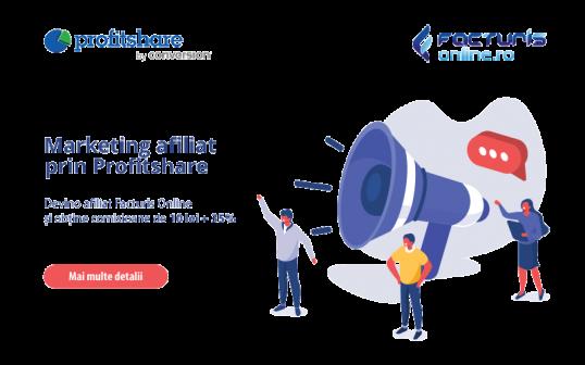 Hai sa promovezi Facturis Online in reteaua de marketing afiliat ProfitShare!