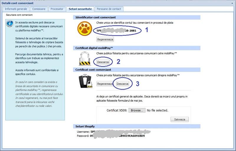 Configurare integrare in interfata mobilPay