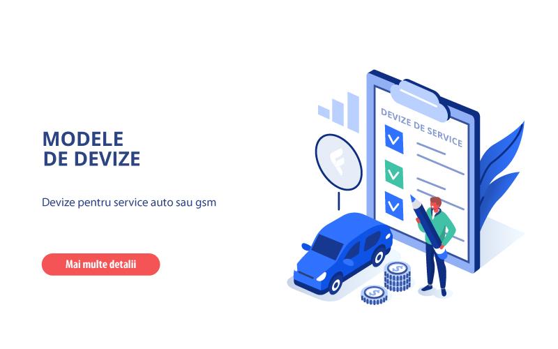 Modele de devize – deviz de service AUTO si GSM